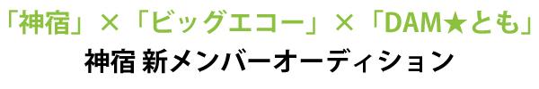 神宿新メンバーオーディション