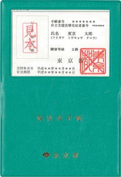 障害者手帳(見本)